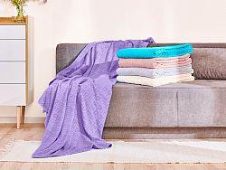 Bavlnená deka Dormeo Terry, 220x220 cm, fialová