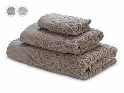 Luxusný set uterákov Dormeo, 3 ks, hnedá